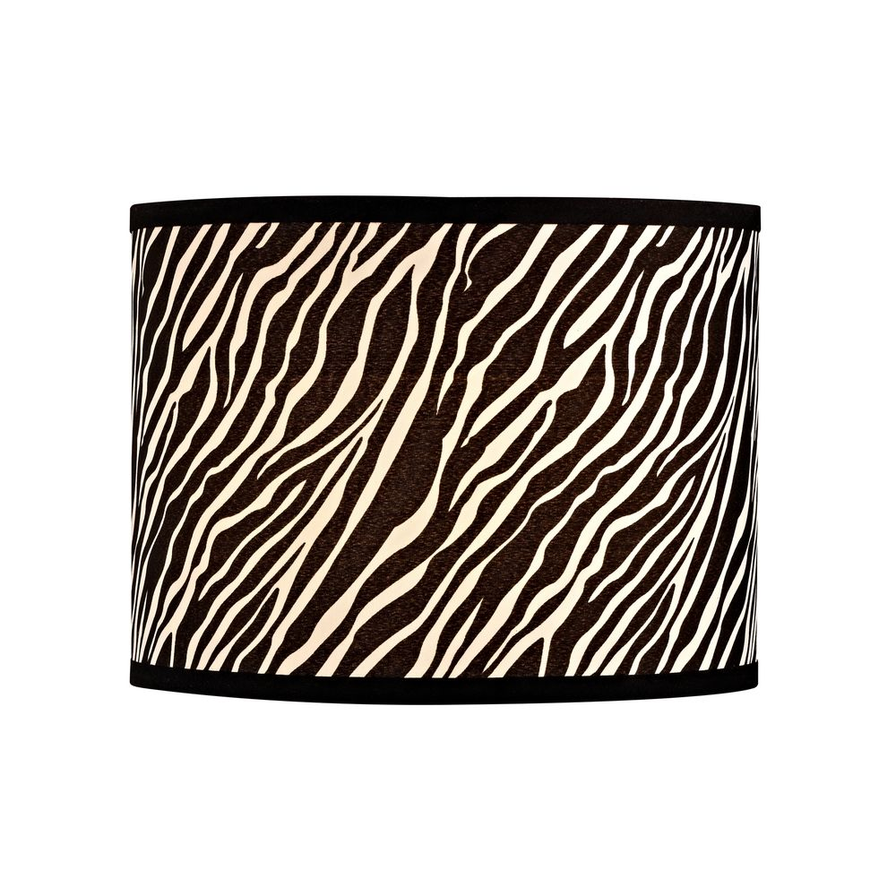 Design Classics Lighting Zebra Drum Lamp Shade With Spider Assembly SH9485