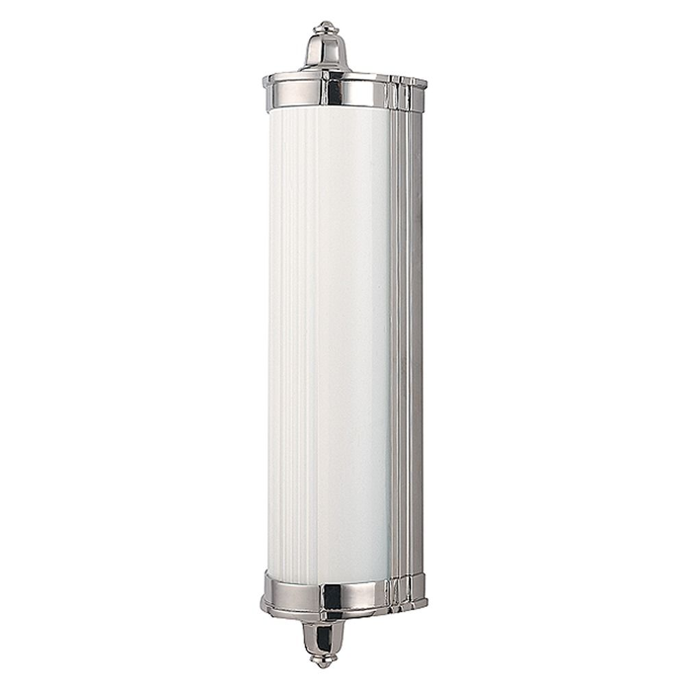 Nichols polished nickel led bathroom light 708 pn for Polished nickel bathroom lighting