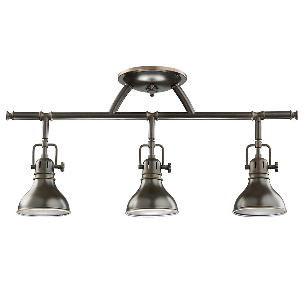 Adjustable Vanity Light Fixtures : Kichler Adjustable Rail Light for Ceiling or Wall Mount 7050OZ Destination Lighting