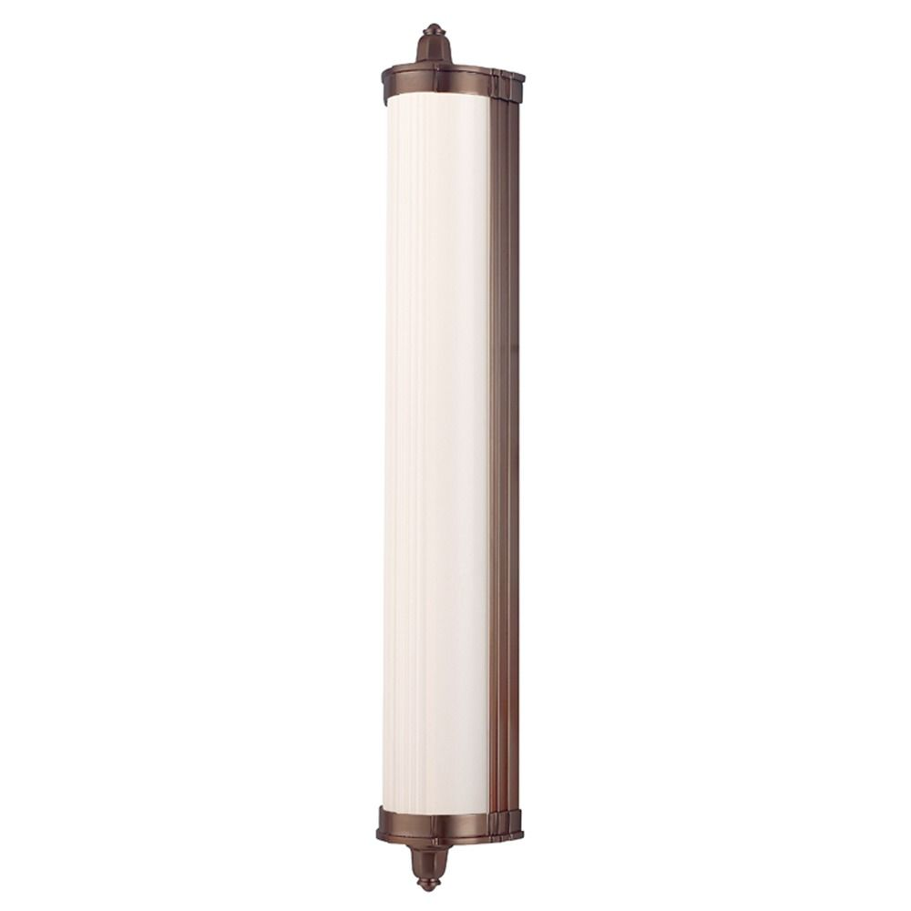 Nichols brushed bronze led bathroom light 714 bb destination lighting for Brushed bronze bathroom lighting