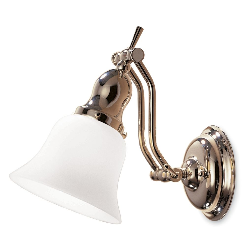 esquire p sconce nickel in lighting polished corbett wall light