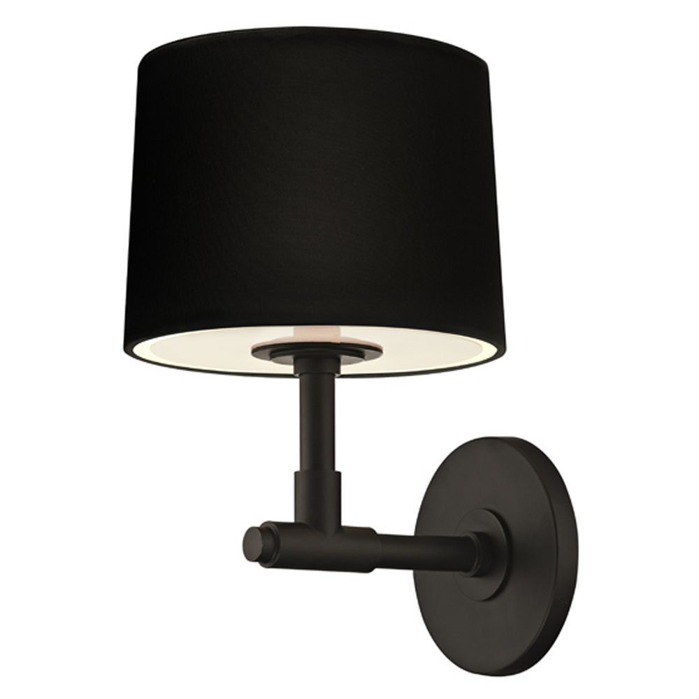 mid century modern sconce black soho by sonneman lighting