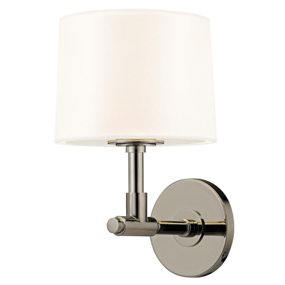 Mid Century Modern Sconce Polished Nickel Soho By Sonneman