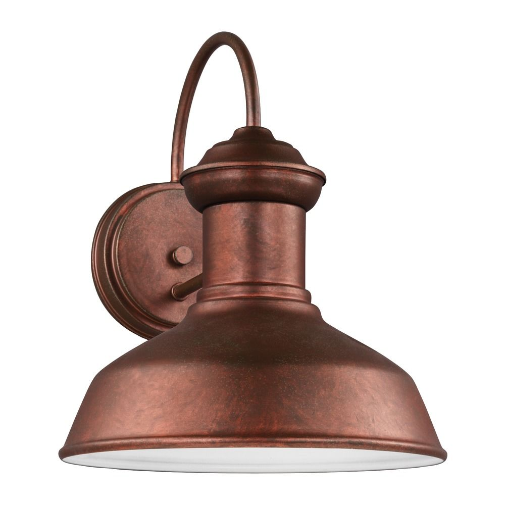 Sea Gull Fredricksburg Weathered Copper LED Outdoor Wall Light 8547791S 44