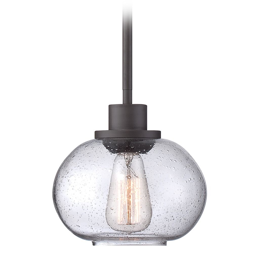 Quoizel Lighting Squire Rustic Black Mini-Pendant Light ... |Quoizel Pendant Lighting