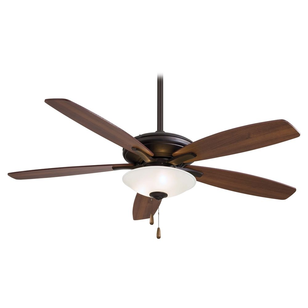 Modern ceiling fan with light with white glass in oil for White contemporary ceiling fans with lights