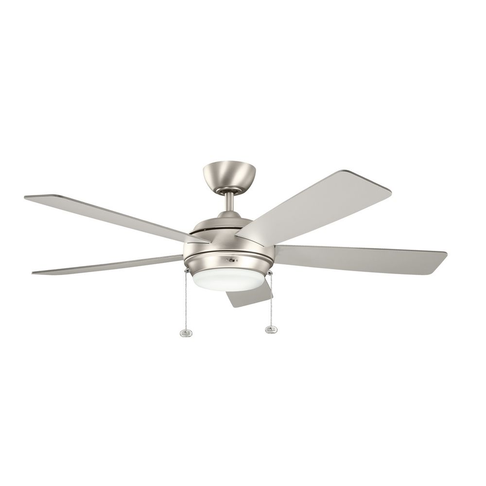 Ceiling Fans With Lights : Kichler lighting starkk brushed nickel ceiling fan with