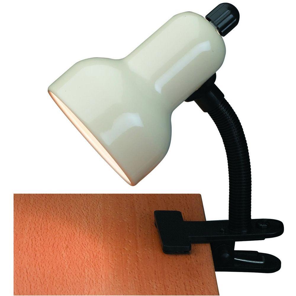 source lighting lite source lighting clip on clamp desk lamp ls 111ivy. Black Bedroom Furniture Sets. Home Design Ideas