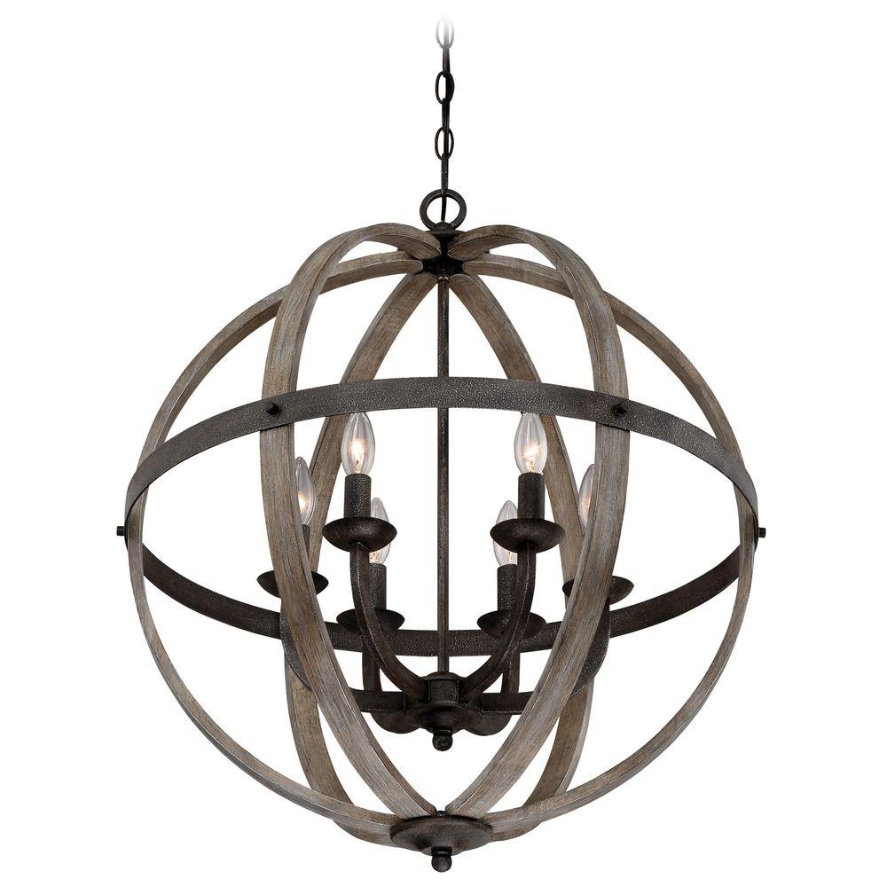 quoizel lighting fusion rustic black pendant light
