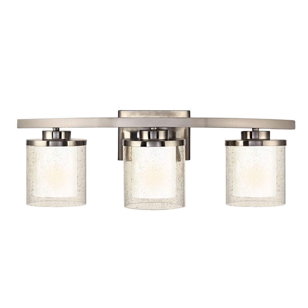 Seeded Glass Bathroom Light Satin Nickel Dolan Designs