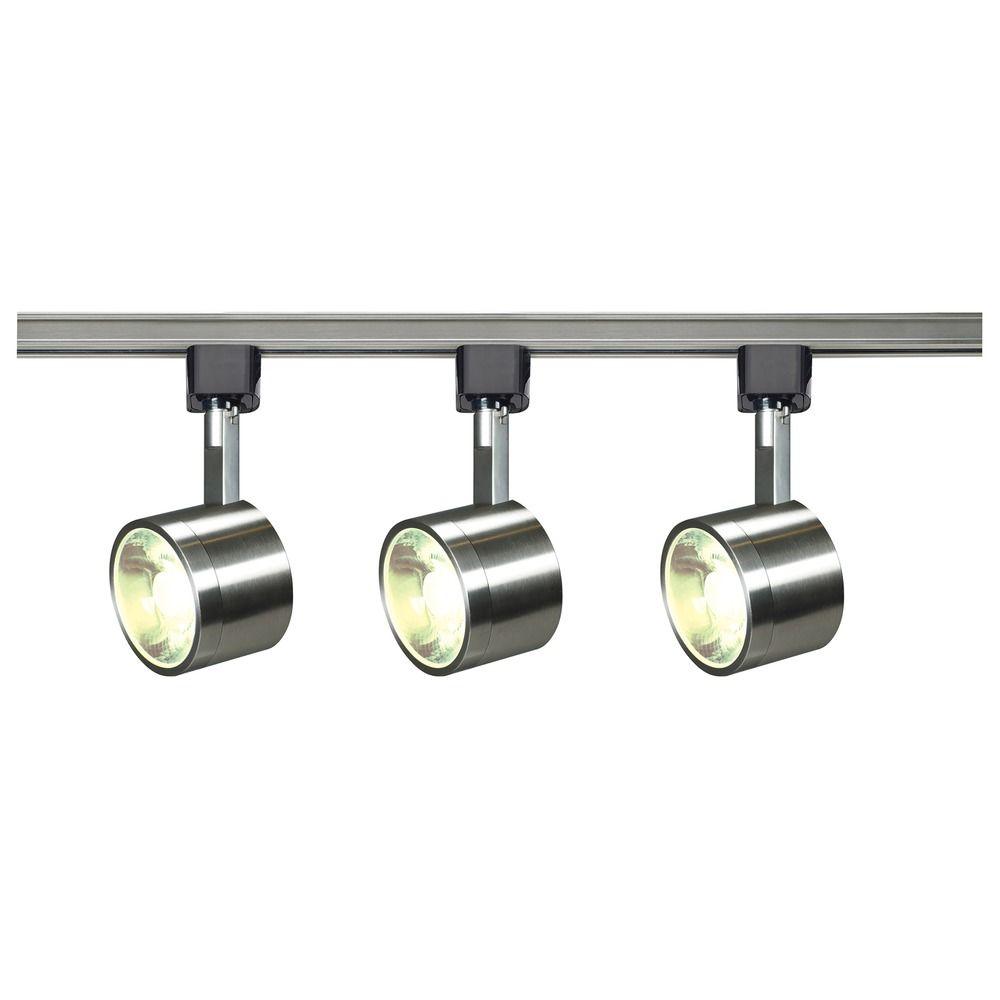 led track light kit h track brushed nickel by nuvo lighting 3000k 2460lm tk407 destination. Black Bedroom Furniture Sets. Home Design Ideas