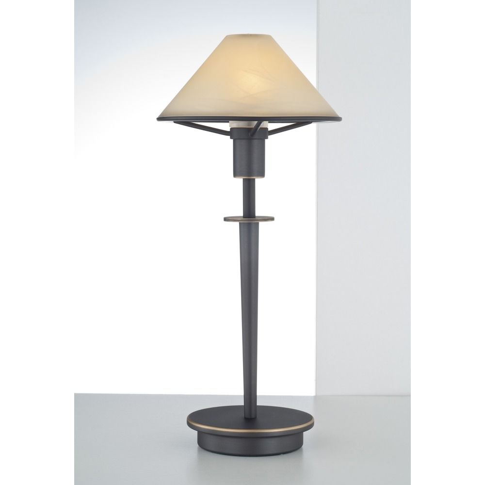 Holtkoetter Lighting Hand Brushed Old Bronze Table Lamp With Conical Shade At Destination