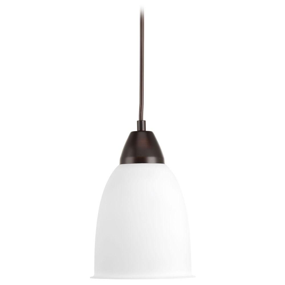 progress lighting simple antique bronze led mini pendant light with bowl dome shade p5176