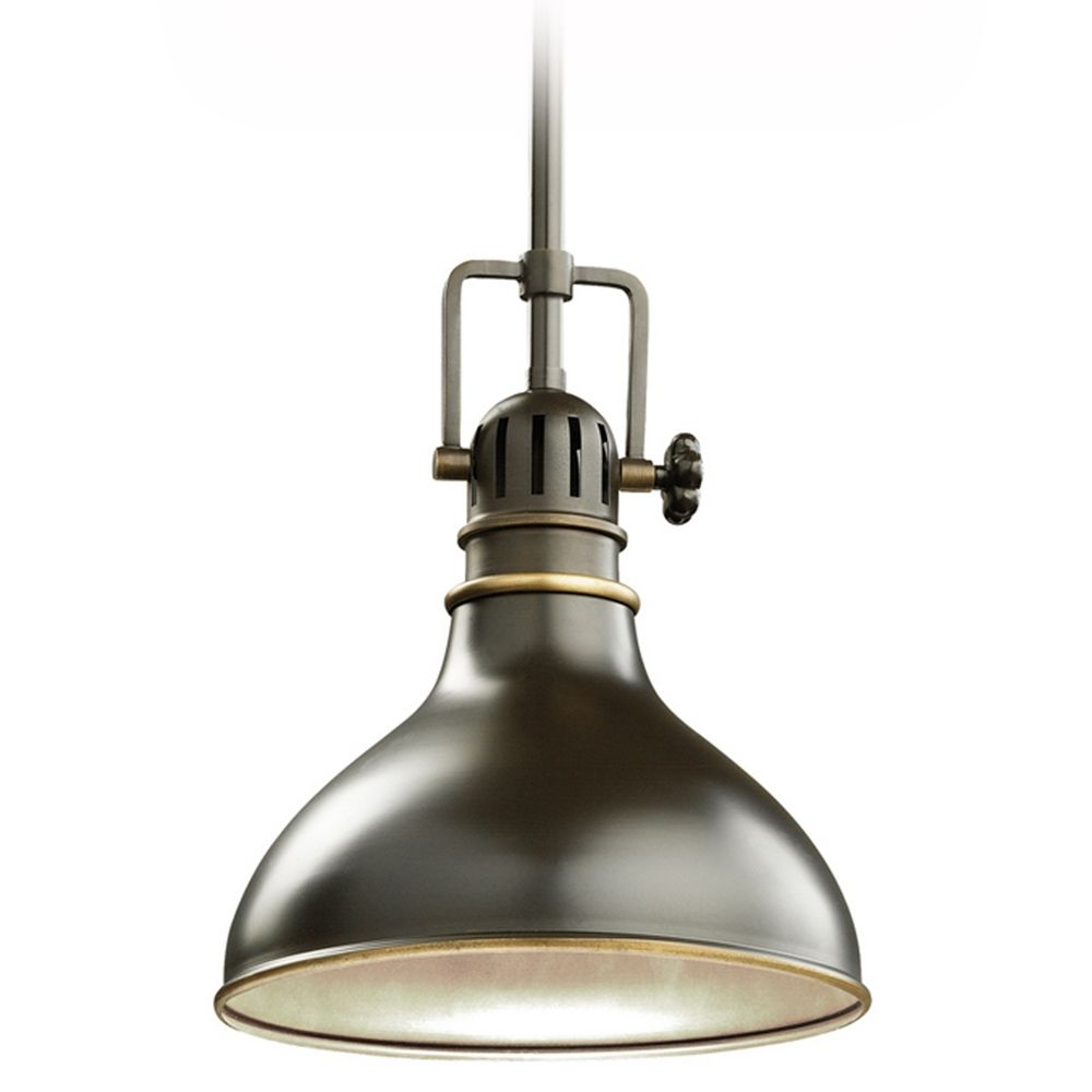 Kichler nautical mini pendant light in bronze finish 8 for Industrial bulb pendant