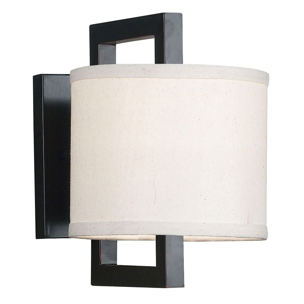 Sconce Wall Light with Beige / Cream Shade in Oil Rubbed Bronze Finish 10063ORB Destination ...