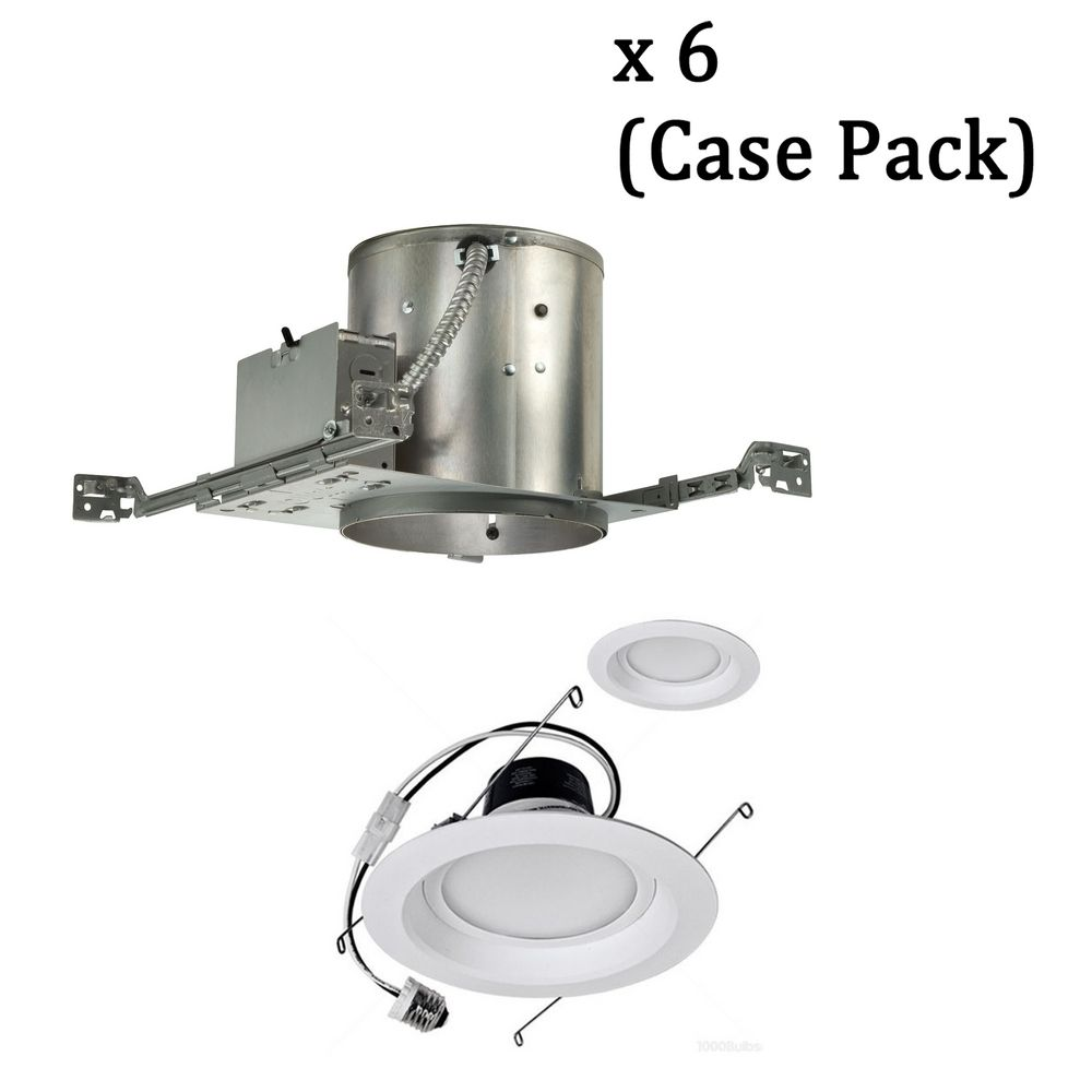 dimmable 12watt led 6inch recessed lighting kit case pack of 6