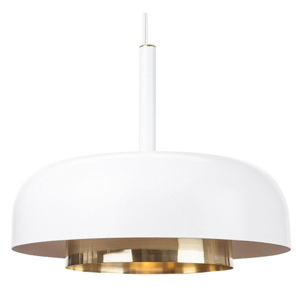 Mid century modern pendant light white shaya by nuevo for Modern white pendant lighting