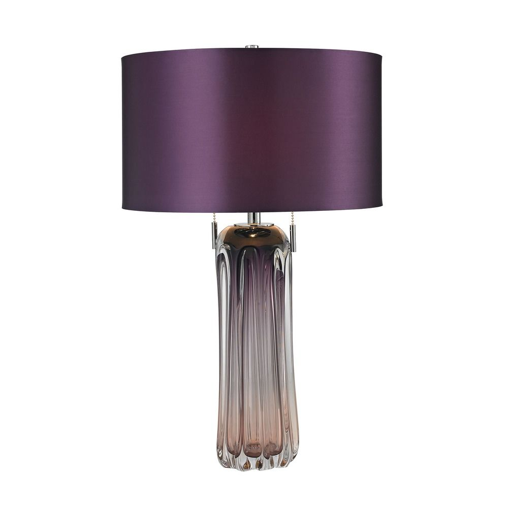 Dimond Lighting Purple Table Lamp With Drum Shade