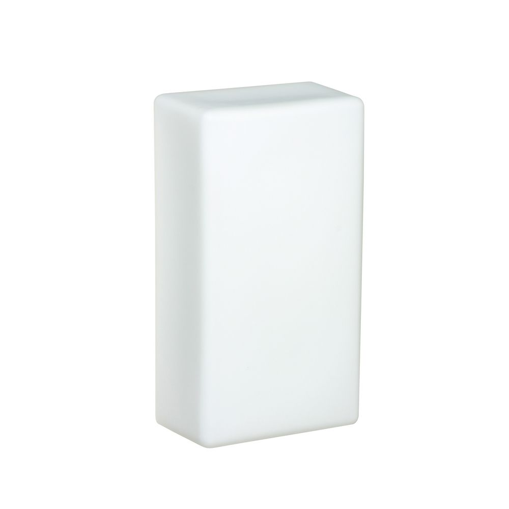 Wall Sconce White Glass : Sconce Wall Light with White Glass 888607 Destination Lighting