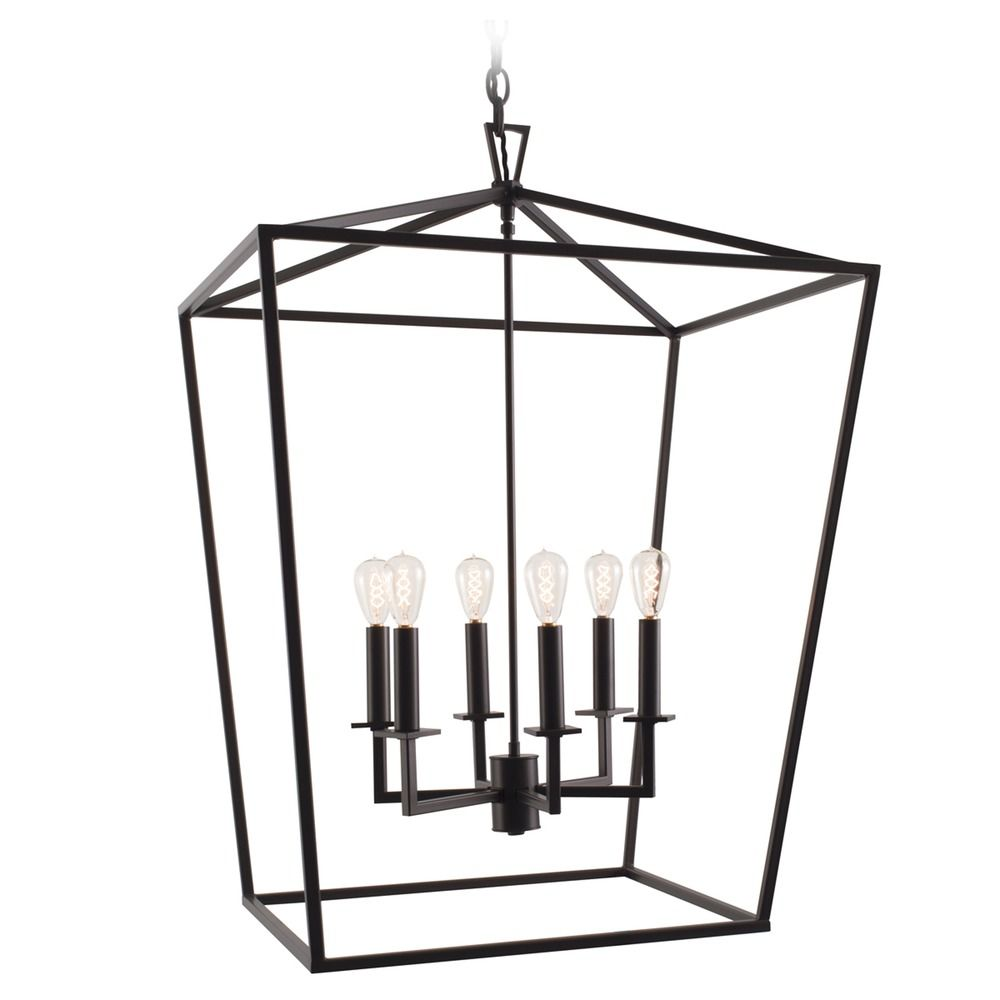 norwell lighting cage matte black pendant light