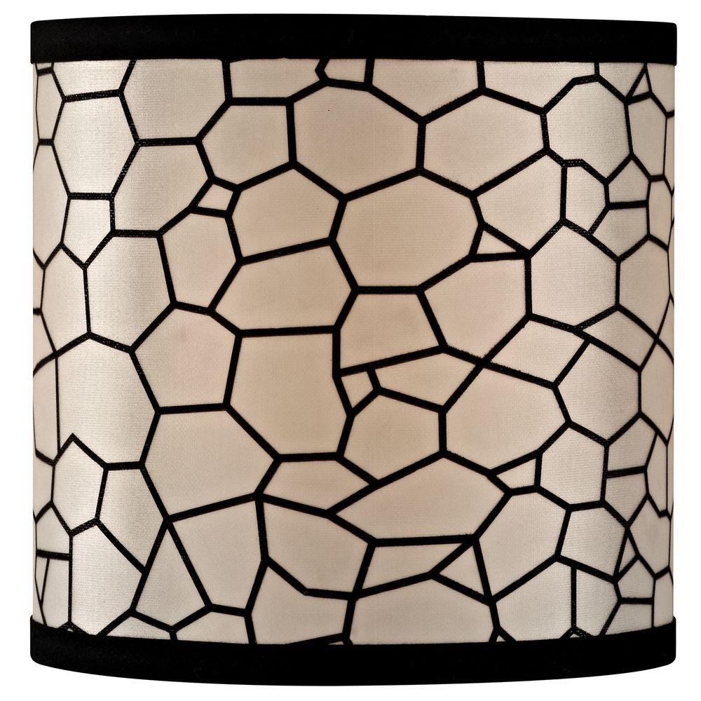 Lamp Shades on Design Classics Black Honeycomb Uno Drum Lamp Shade   Sh9501