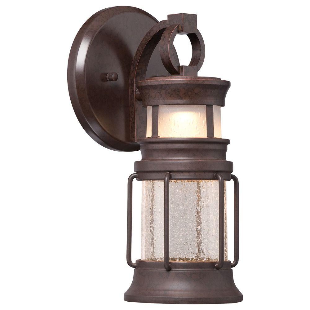 Minka Lighting Garreston Pointe Architectual Bronze With Copper LED Outdoor W