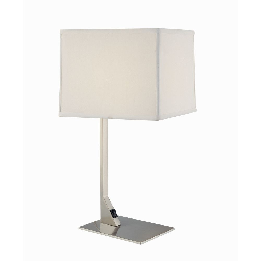 Modern table lamp with rectangular shade 6090 1 09 for Modern contemporary table lamps