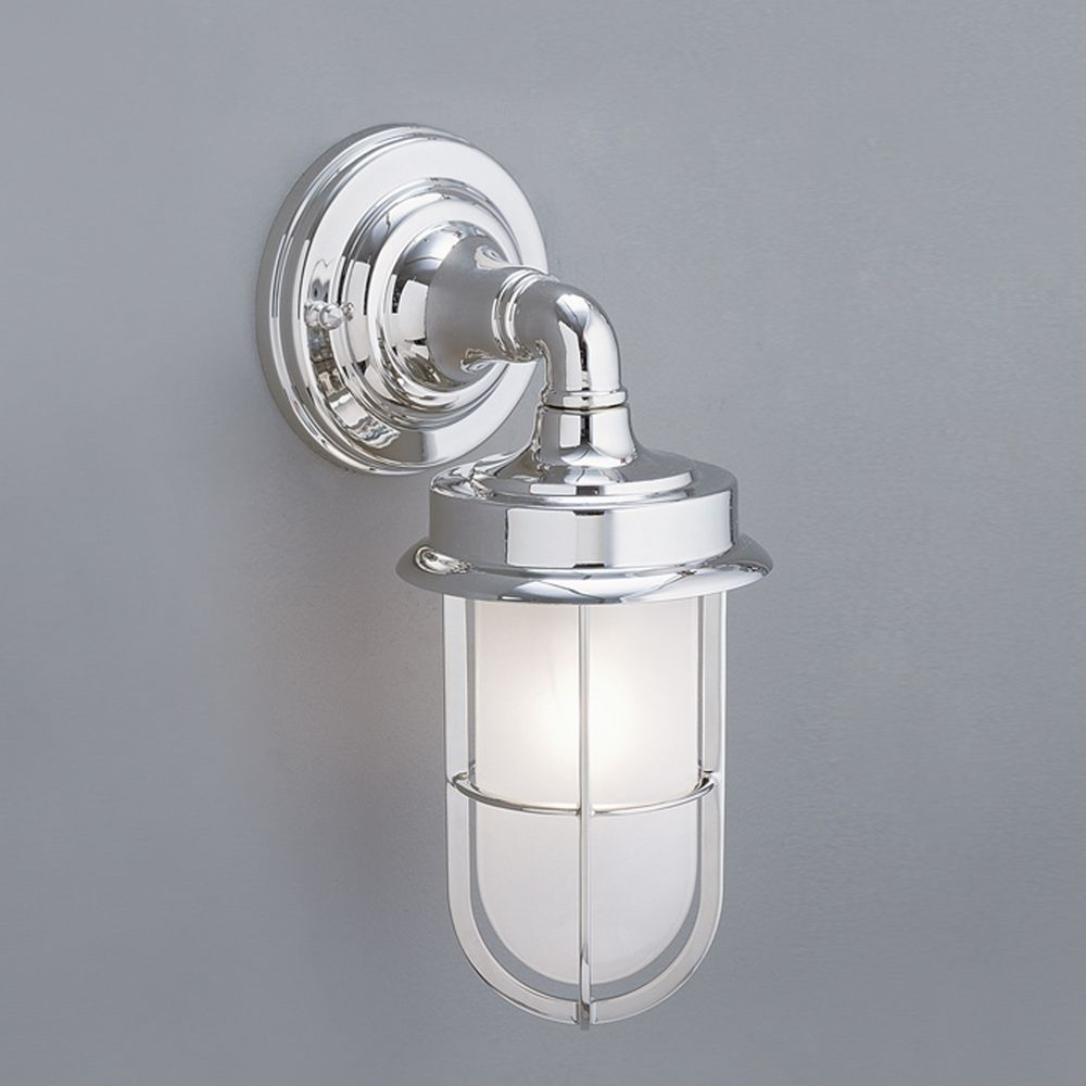 External Wall Lights Chrome : Norwell Lighting Compton Chrome Outdoor Wall Light 1425-CH-SO Destination Lighting