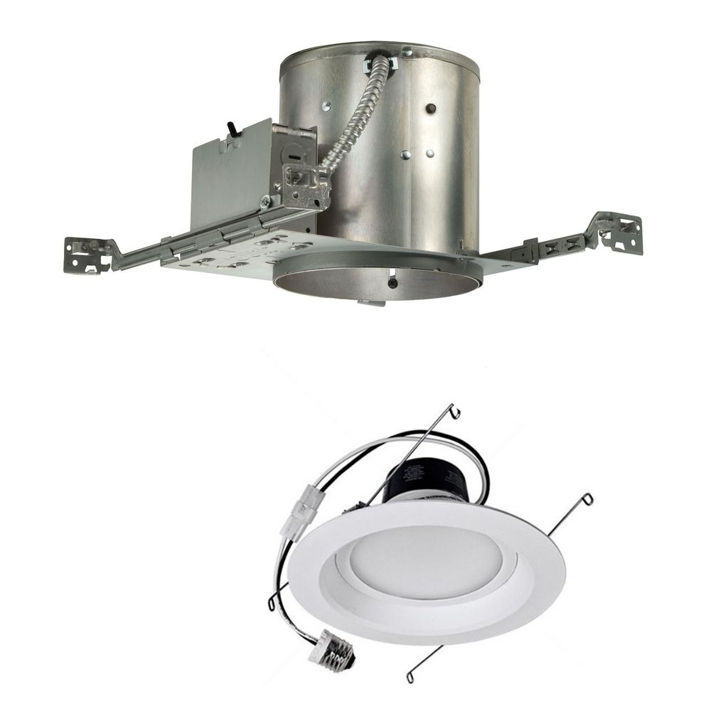14 Watt Dimmable Led 6 Inch Recessed Lighting Kit For New Construction At Destination