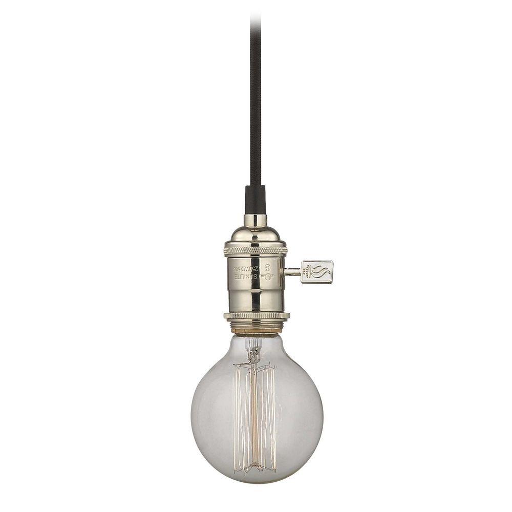 bulb socket mini pendant light with vintage 40 watt globe bulb ca1 15. Black Bedroom Furniture Sets. Home Design Ideas