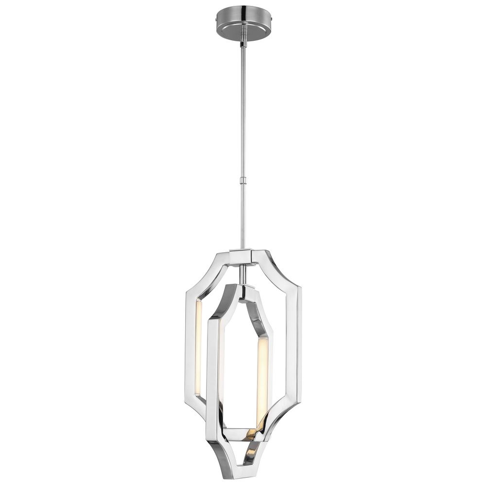 Feiss Lighting Audrie Polished Nickel LED Mini-Pendant Light alt1 - Feiss Lighting Audrie Polished Nickel LED Mini-Pendant Light