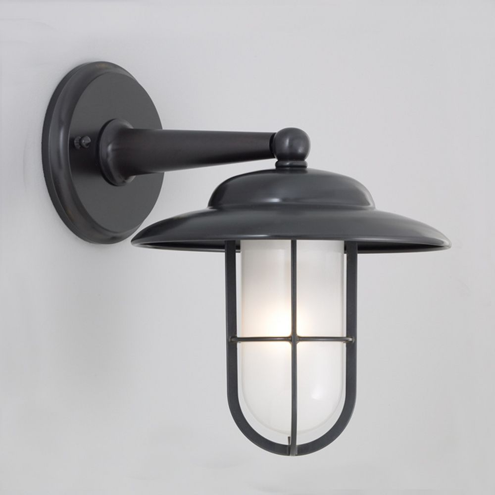 Metal Outdoor Wall Lights : Norwell Lighting Compton Gun Metal Outdoor Wall Light 1426-GM-SO Destination Lighting