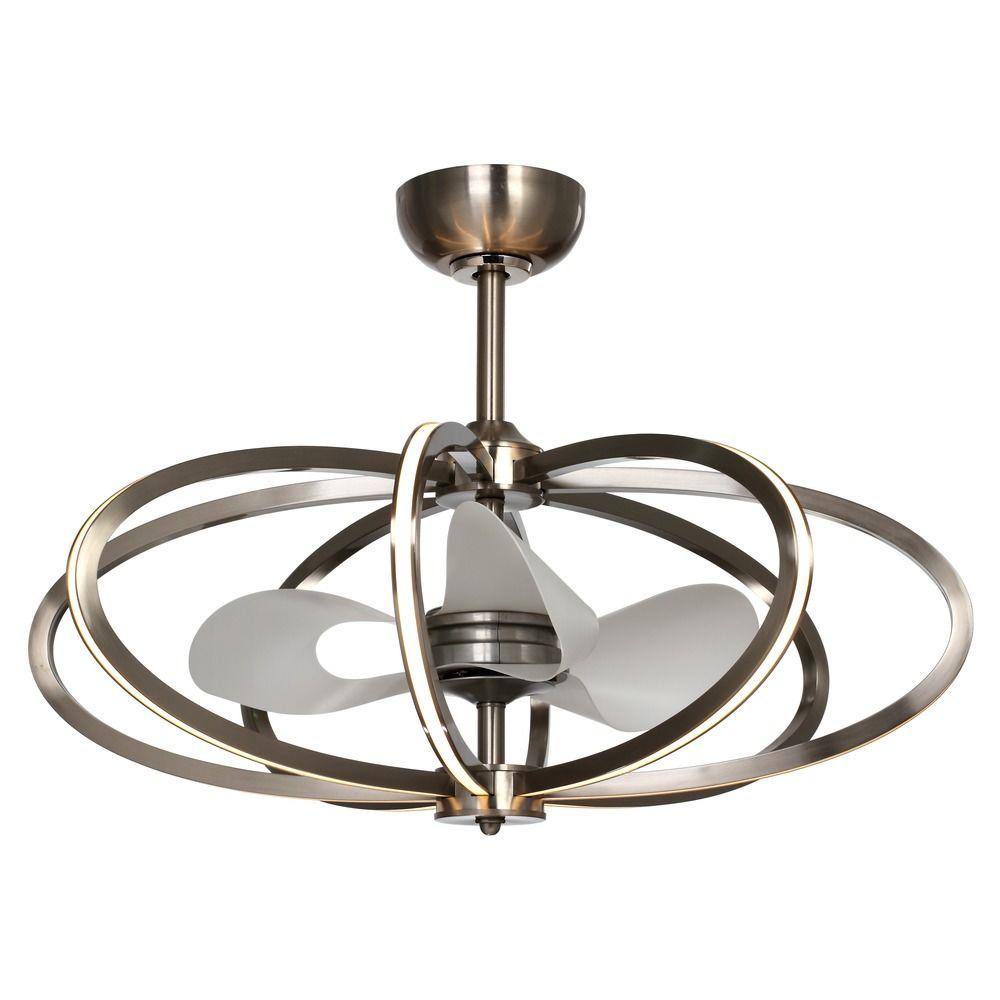 Ceiling Fan Pendant Light: Maxim Lighting Fandelier Polished Chrome LED Ceiling Fan