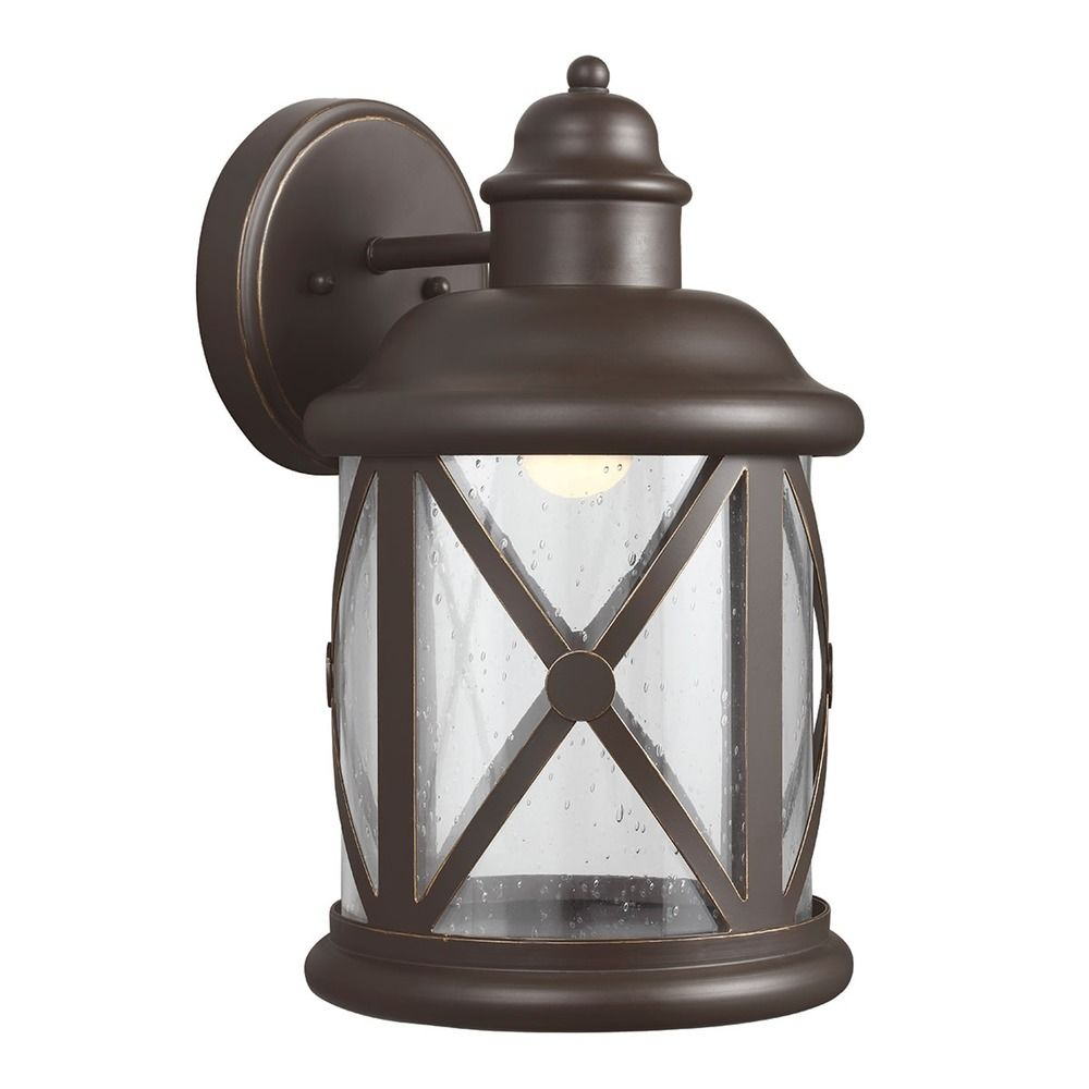 Sea Gull Lighting Lakeview Antique Bronze LED Outdoor Wall