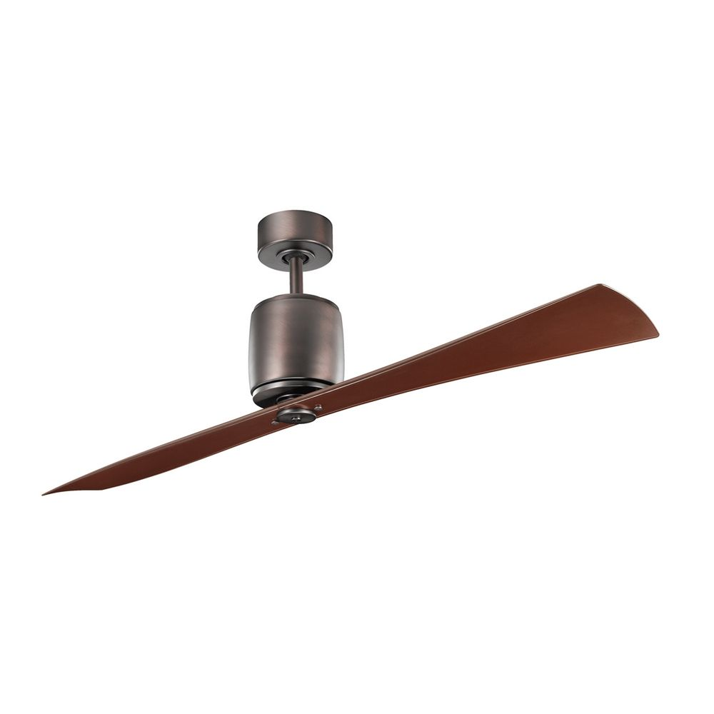 kichler modern fan without light in oil brushed bronze finish  - hover or click to zoom
