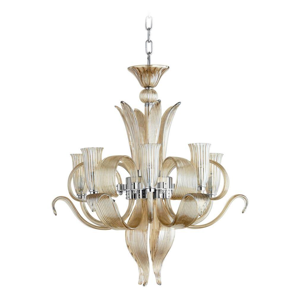 Cyan design juliana cognac chandelier 6226 destination for Cognac design