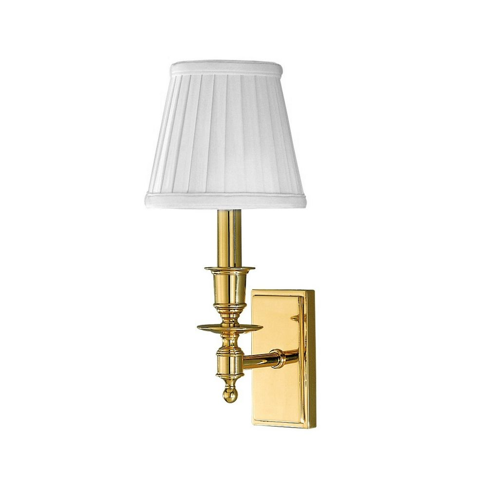 Wall Sconces Bronze Finish : Sconce Wall Light with White Shade in Old Bronze Finish 6801-OB Destination Lighting