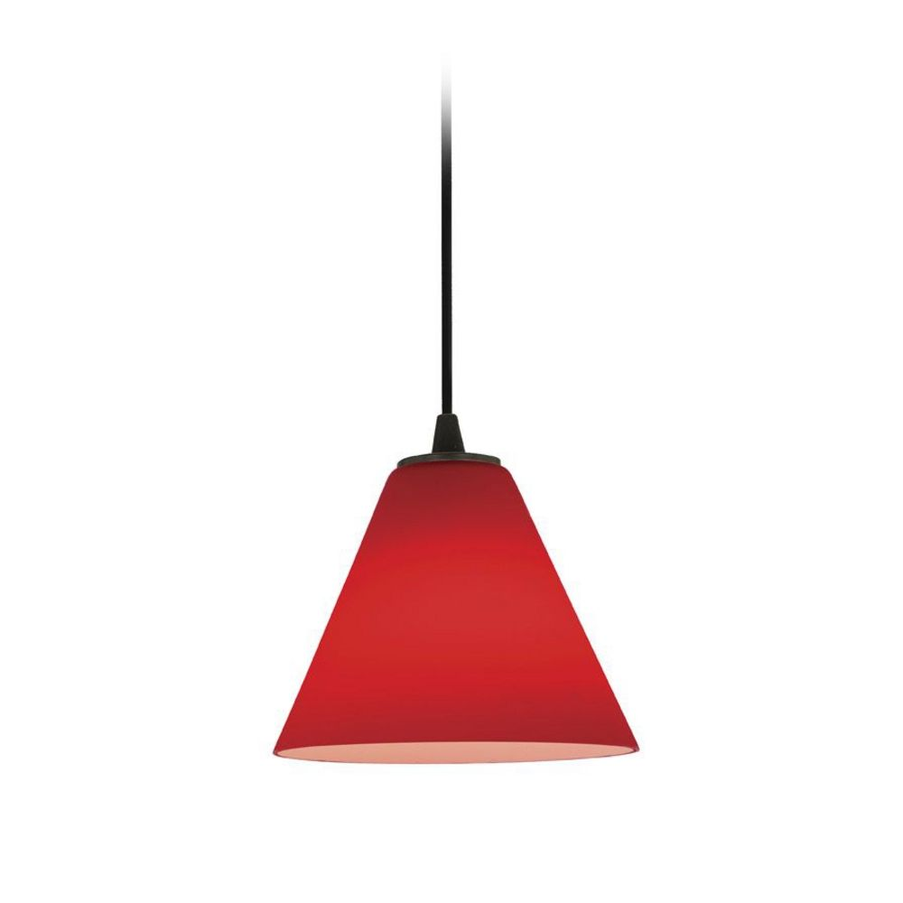 Modern Red Pendant Lighting : Modern mini pendant light with red glass c orb