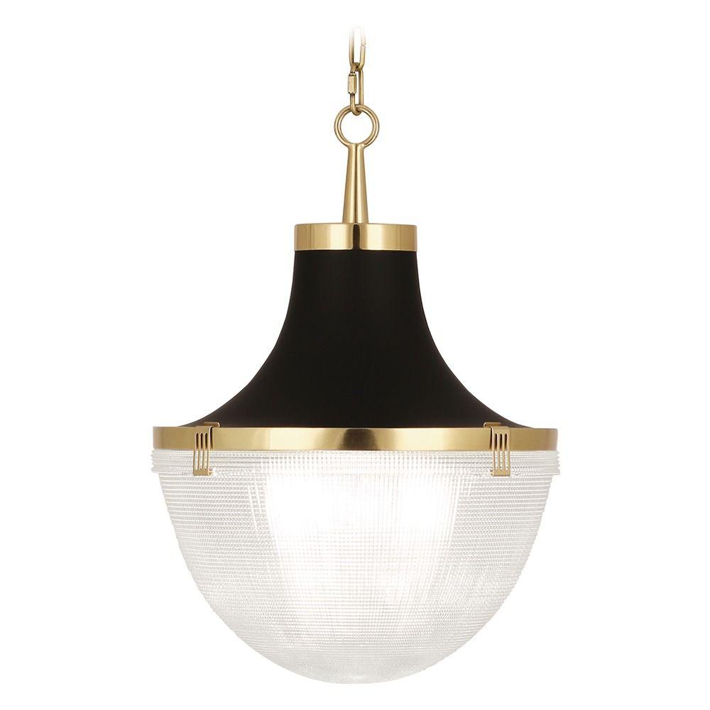 Mid Century Modern Pendant Light Antique Brass Matte