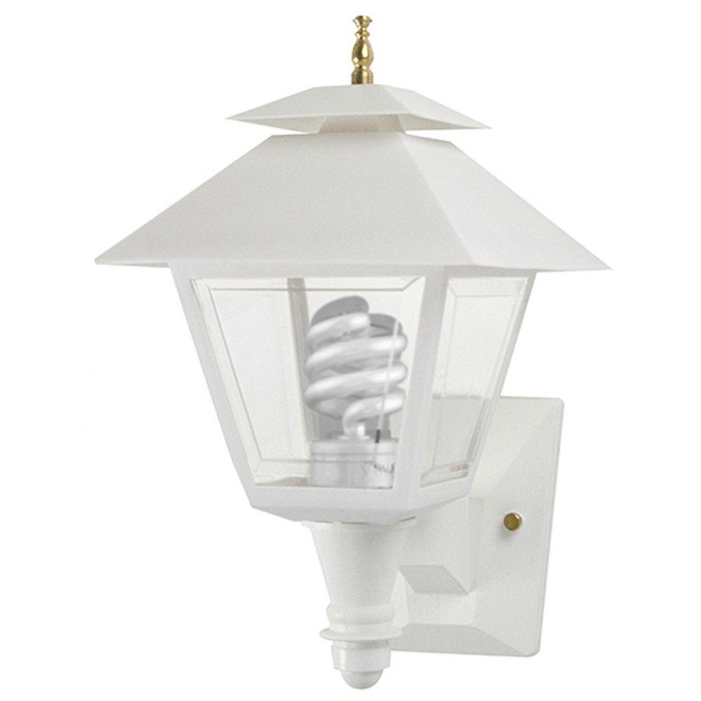 Wave lighting marlex colonial white outdoor wall light for Outdoor colonial lighting