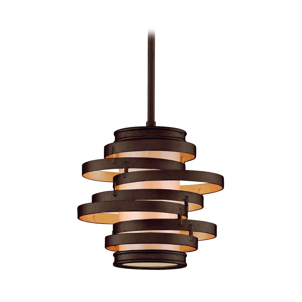 Modern Mini Pendant Light With Beige Cream Glass