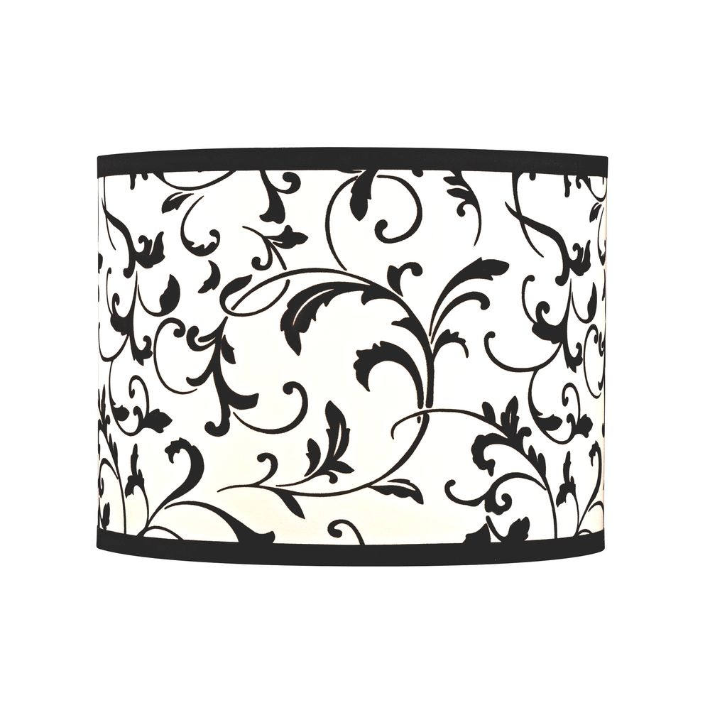 Design Classics Lighting Black Drum Lamp Shade With Spider Assembly SH9515