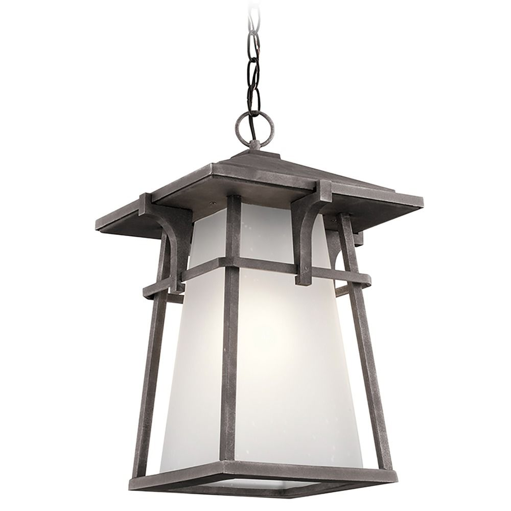 Kichler Lighting Beckett Weathered Zinc LED Outdoor Hanging Light 49725WZCL