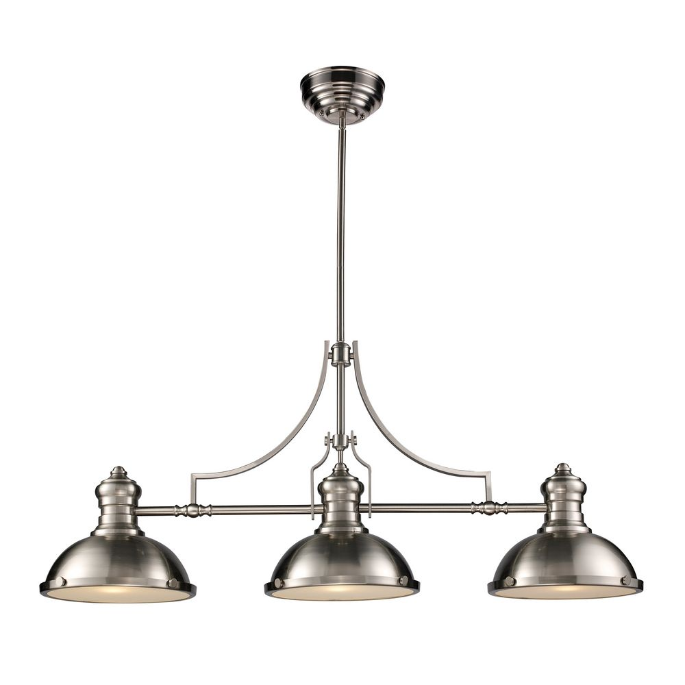 3 light pendant island kitchen lighting chadwick three light linear island pendant 66125 3 26304