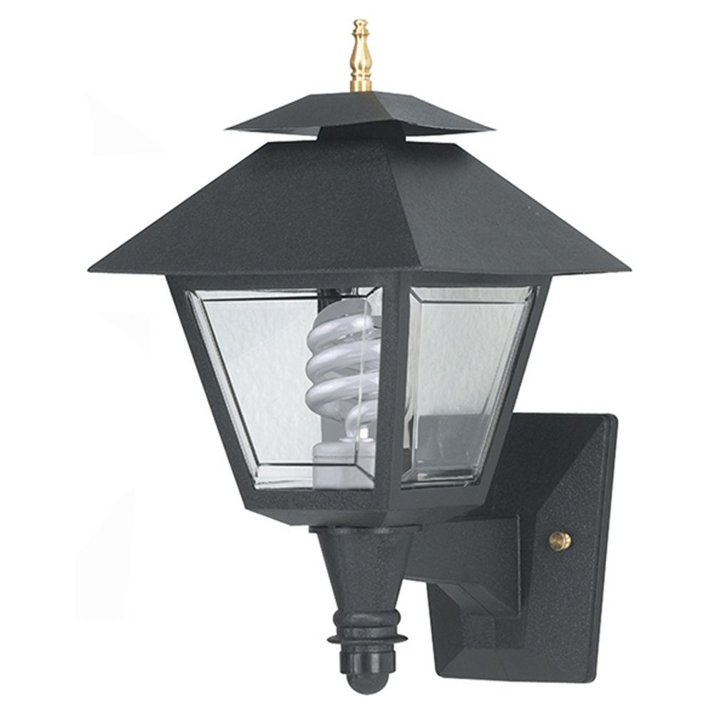 Wave lighting marlex colonial black outdoor wall light for Outdoor colonial lighting