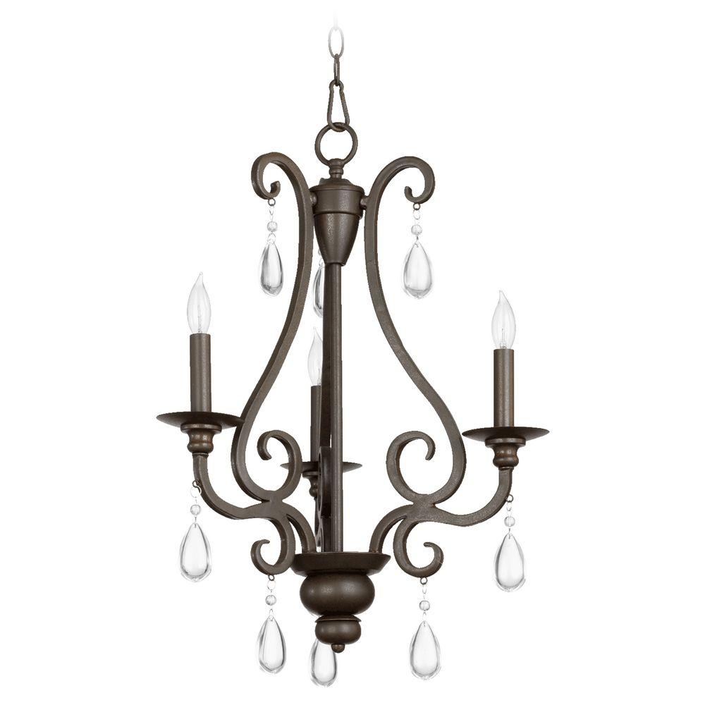 Quorum Lighting Anders Oiled Bronze Mini Chandelier 6013 3 86 Destination