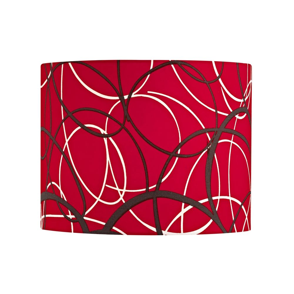 Red and Grey Drum Lamp Shade with Spider Assembly | SH9518 ...