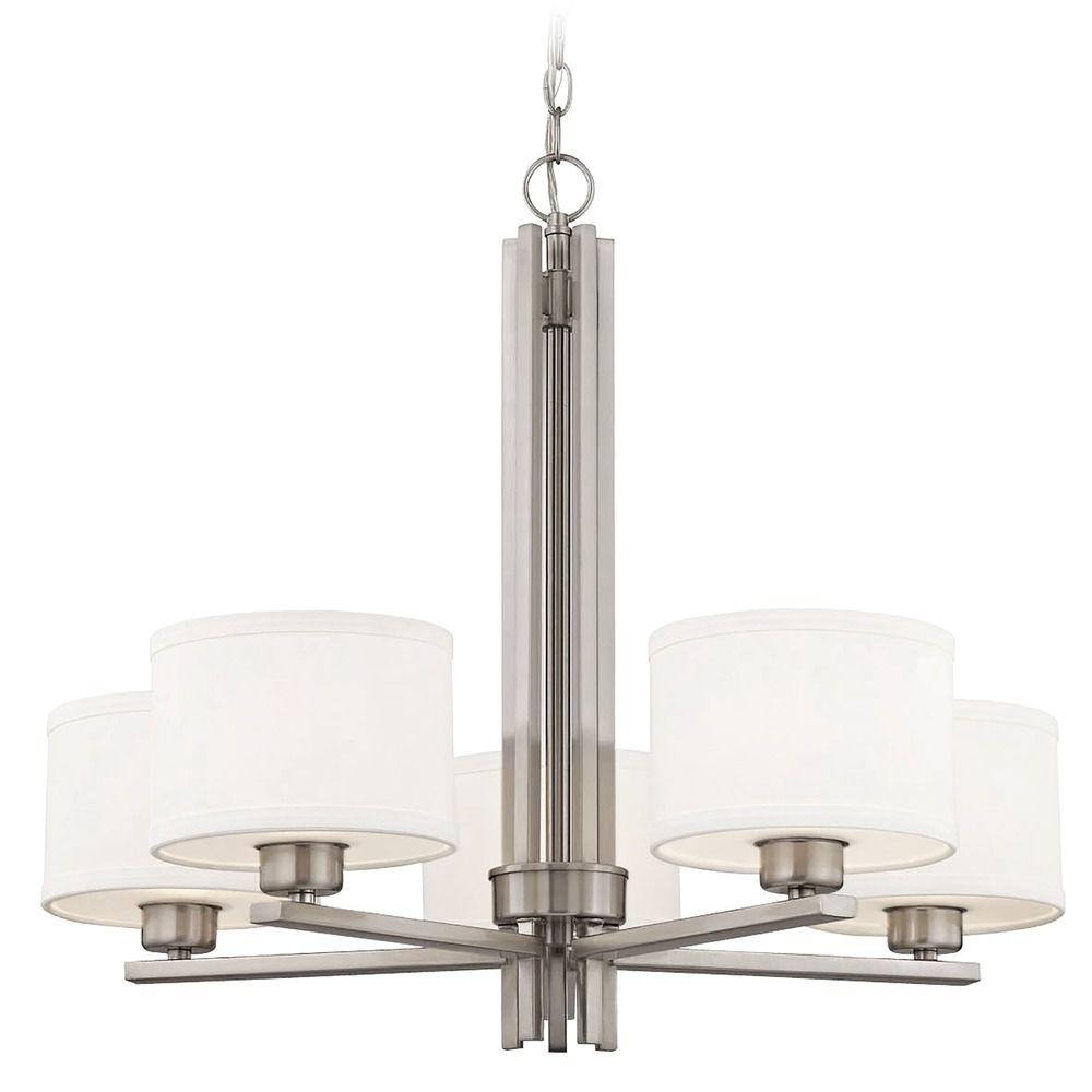 Dolan Designs Tecido Satin Nickel Chandelier At Destination Lighting