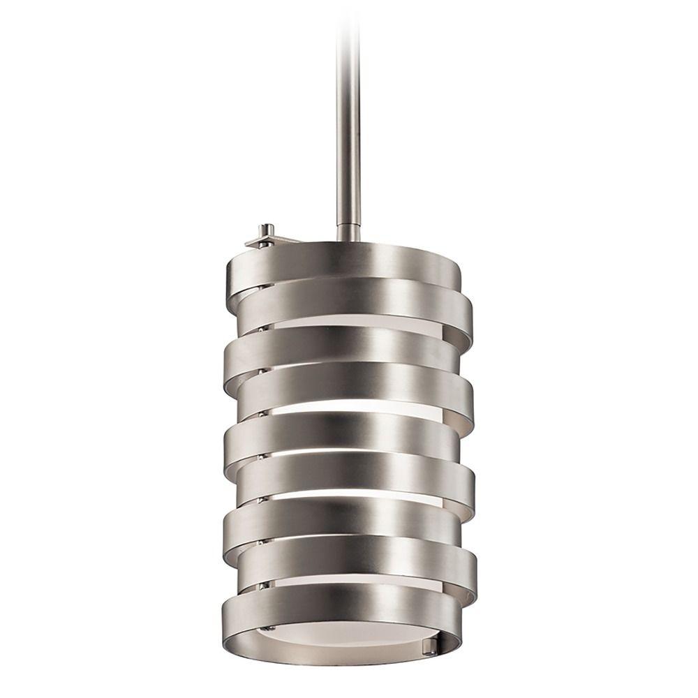 kichler lighting roswell brushed nickel mini pendant light with