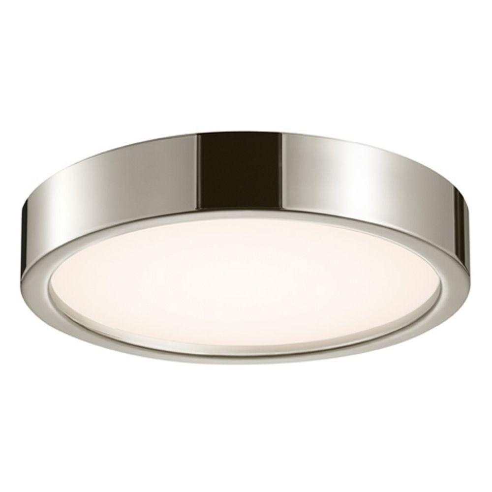 Sonneman lighting puck satin nickel led flushmount light for Sonneman lighting